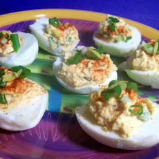 Mexi Salsa Deviled Eggs