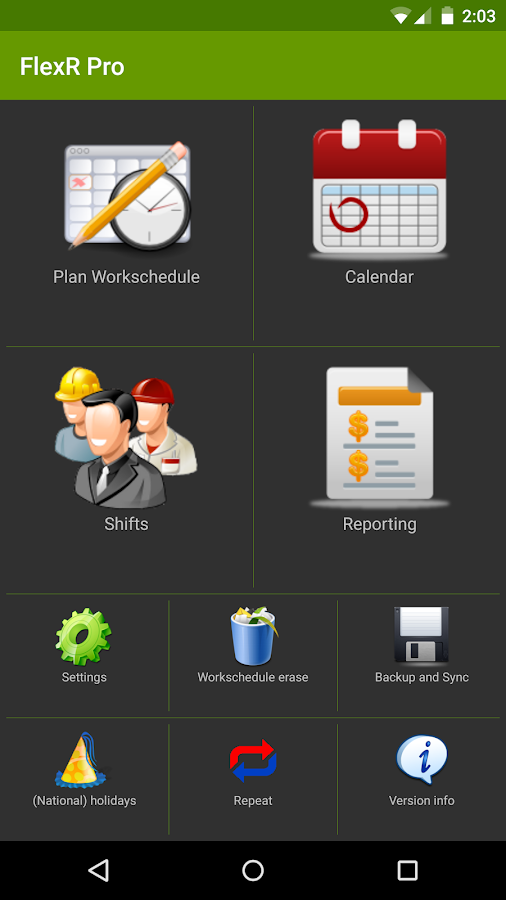 FlexR Pro (Shift planner) Screenshot 1