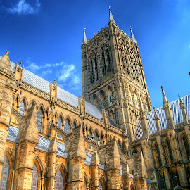 Lincoln Cathedral by Stephen Hall - Buildings & Architecture Places of Worship ( lincoln cathedral, lincoln, hdr, church, cathedral )