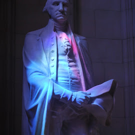 Freedom's Light by Sherry Judd - Buildings & Architecture Statues & Monuments ( light play, lighting, moods, art, monument, d.c., historical, mood lighting )