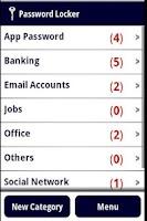 Screenshot of Password Locker Lite