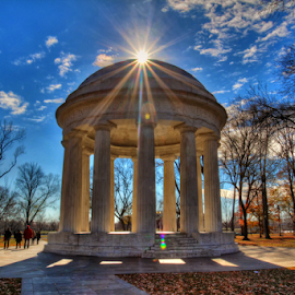DC War Memorial by Rodrigo Alvarez - Buildings & Architecture Statues & Monuments ( hdr washington sun travel monument,  )