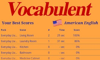 Screenshot of Vocabulent American English