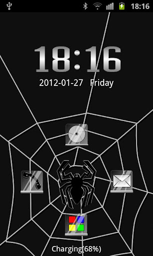 GO Locker Black Spider Theme