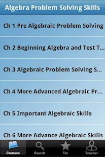 Algebra Problem Solving Skills - screenshot