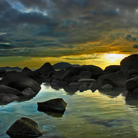 Before Sunset by Dany Fachry - Landscapes Beaches ( beaches, west kalimantan, indonesia, seascapes, seaside, landscapes )