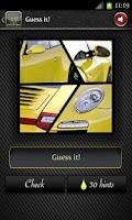 Screenshot of Cool Car Quiz