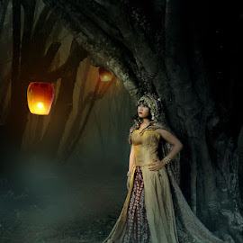 darkness surround by Jun Manolang - Digital Art People ( princess, gothic, jungle, digital manipulation, digital art, pixoto, women, photography )
