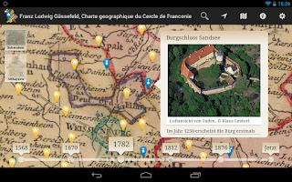 Screenshot of Bayern in historischen Karten