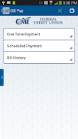 Screenshot of CME FCU Mobile Banking