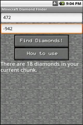 MC diamond finder