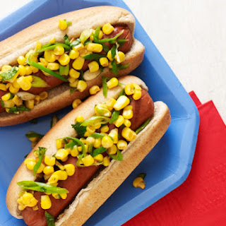 Hot Dogs with Corn Salsa