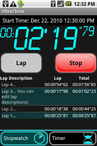 UltraChron Stopwatch Timer