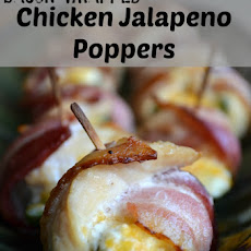 Bacon Wrapped Chicken Jalapeno Poppers
