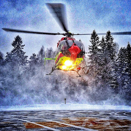 by Jose Figueiredo - Transportation Helicopters ( helicopter, winter, norway,  )