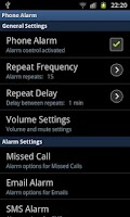 Screenshot of phoneAlarm Unlock Key