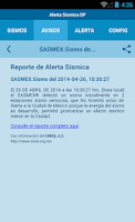 Screenshot of Alerta Sísmica DF