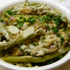 Holiday Green Beans Almondine Casserole