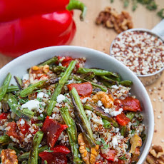 Roasted Green Bean Red Pepper Quinoa Salad