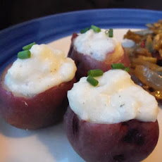 Cream Cheese Stuffed New Potatoes