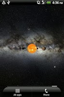 Screenshot of Solar System Live Wallpaper 3D