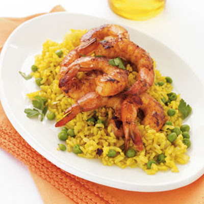 Spanish-Style Shrimp with Yellow Rice