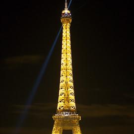 The Eiffel by Onur Genes - Buildings & Architecture Statues & Monuments ( paris, eiffel, night, light, lights on )