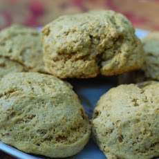 Whole Wheat Pumpkin Rosemary Drop Biscuits
