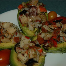 Avocado Stuffed With Seafood
