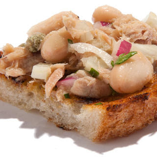 Tuna and Cannellini Bean Bruschetta