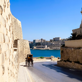 Valletta by Lino Chetcuti - City,  Street & Park  Historic Districts