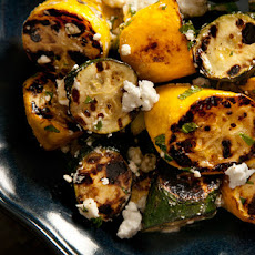 Grilled Summer Squash with Feta and Mint Recipe