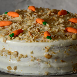 Carrot-Walnut Cake by Ian Paez - Food & Drink Cooking & Baking ( cake, wallnut, carrot, baking )