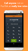 Screenshot of FooTalk - free calls