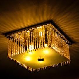 Chandelier by Kashf Gee - Digital Art Abstract ( abstract, chandelier, electric, beautiful, hotel, digital, light )