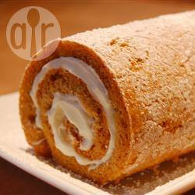 Pumpkin Roulade With Cream Cheese