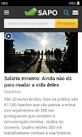 Screenshot of SAPO Mobile
