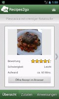 Screenshot of Recipes2go - Rezepte unterwegs