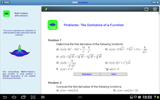 Screenshot of Mathematical Problems (iMath)