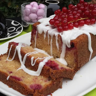 Raspberry Cake with Lemon Glaze