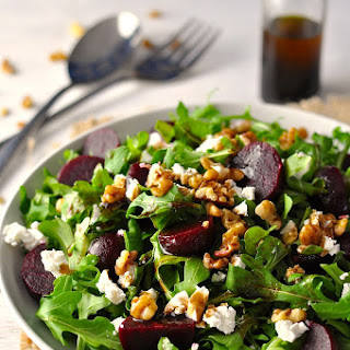 Rocket (Arugula), Beetroot, Walnuts and Feta w/Balsamic Dressing
