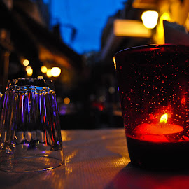 Romantic dinner by Nik Neubauer - Food & Drink Eating ( candle )