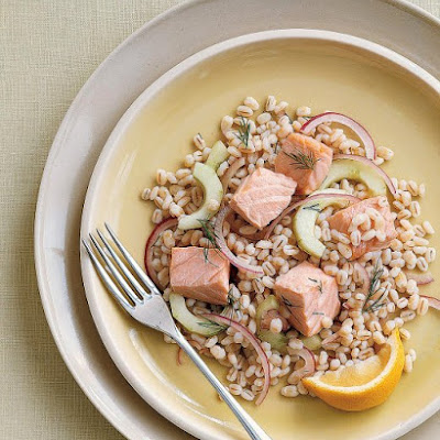 Salmon and Barley Salad