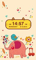 Screenshot of Cute Kitty Cat Clock Widget