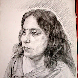 The lady who showed me the light of this world by Abhishek Roy - Drawing All Drawing