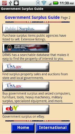 【免費商業App】Government Surplus Guide-APP點子