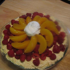 Raspberry and Peach Trifle