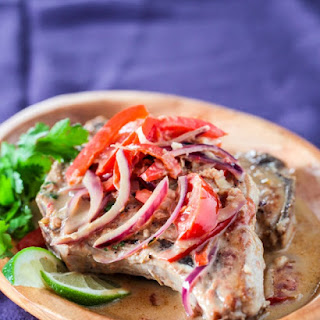 Thai Pork Chops in Ginger Coconut Sauce