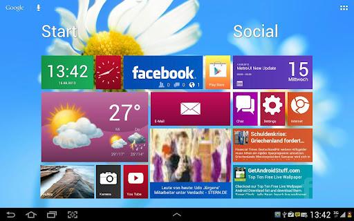 Metro Ui HD Widget Tile Demo