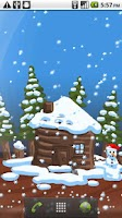 Screenshot of Christmas Snow-Globe LWP